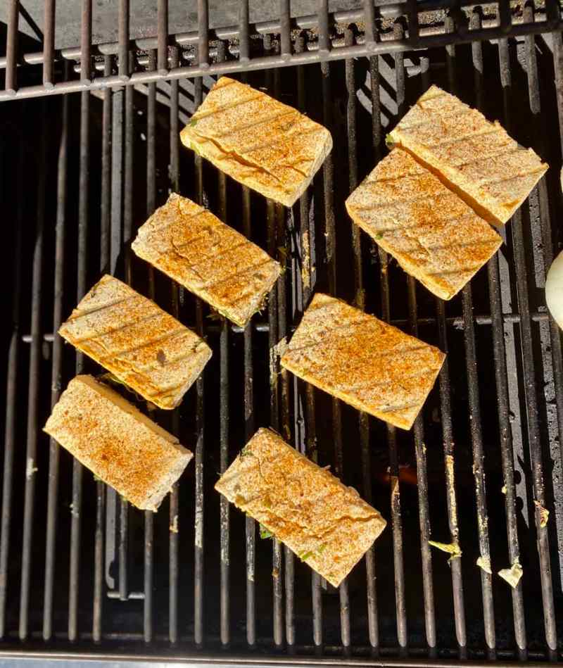tofu taco grilling