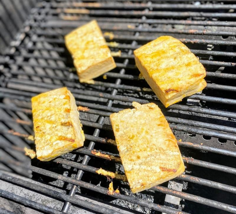 grilled orange tofu