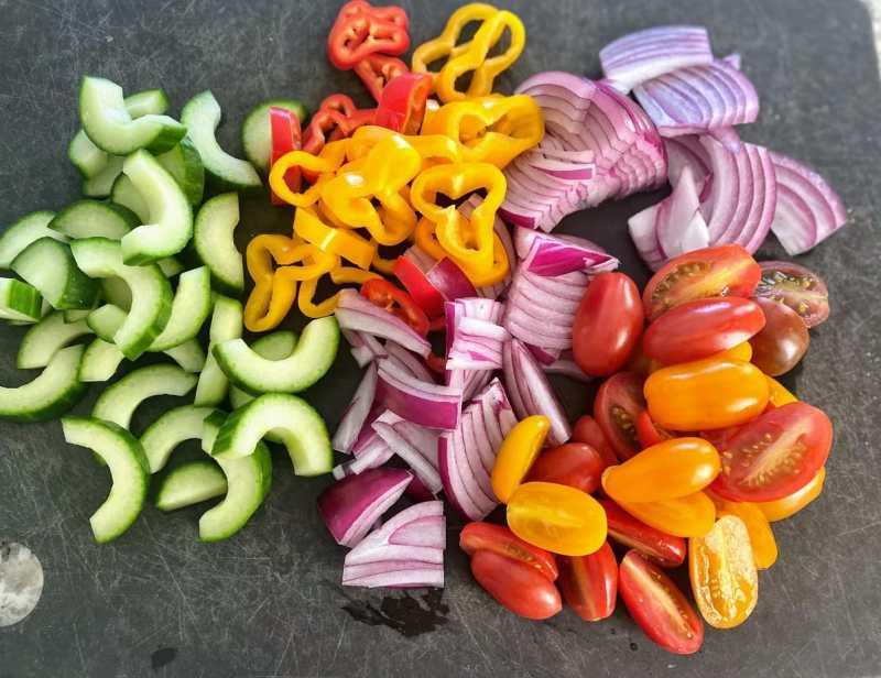 Other ingredients marinated vegetable salad