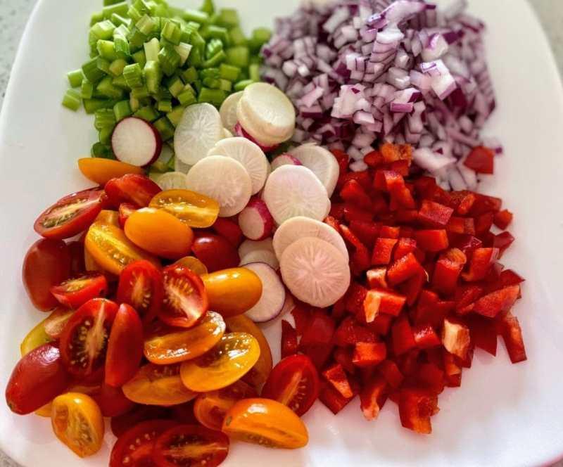 pesto potato salad vegetables
