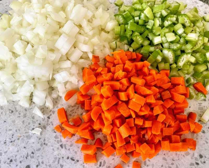 Bolognese vegetables