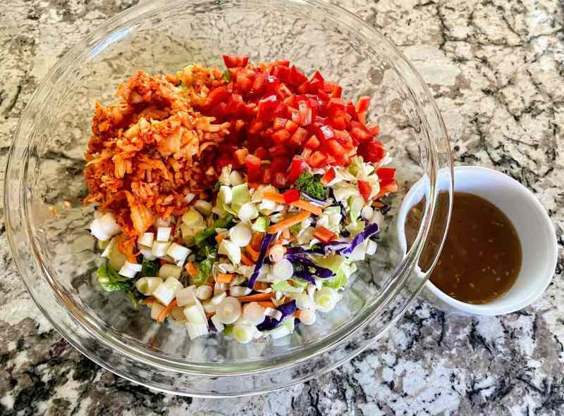 Spicy Cole Slaw Ingredients