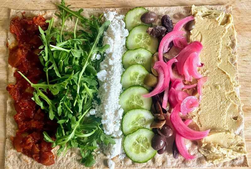Mediterranean Veggie Sandwich Ingredients