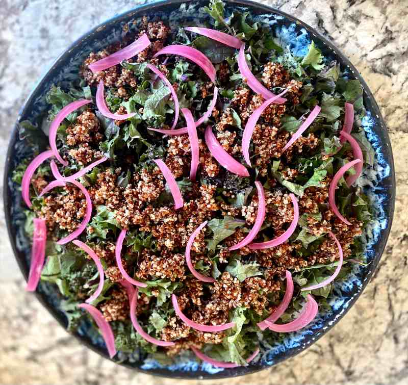 Kale quinoa and pickled beets