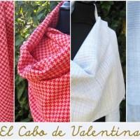 Entdecke das Geheimnis des Handweben mit Gatterkamm mit diesen Schals von El Cabo de Valentina