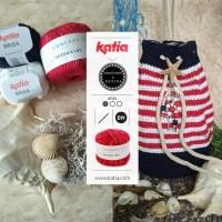 """Seesack """"Strandgeflüster"""" designed & handmade by REGINA - häkle eine praktische Tasche im Marinestil"""