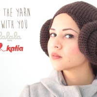 May the yarn be with you! With these 2 crochet patterns: Ewok hood and Princess Leia hair with Katia Maxi Merino