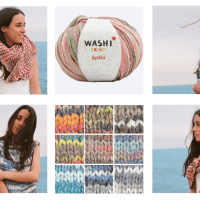 6 knit and crochet patterns to show off Katia Washi and Washi Print the trendy tie-dye effect for this summer