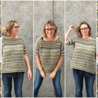Craft Lovers ♥ Lu's challenges and her oversize seamless reversible jumper knitted with a super ball of Big to Knit
