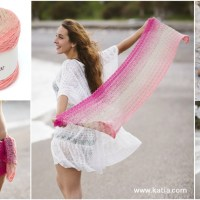 Shawl-Sarong in crochet: a multi-use accessory with only one ball of Katia Spring Rainbow