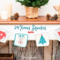 24 exclusive Advent Calendar Xmas Squares to knit or crochet each day, and a Christmas giveaway