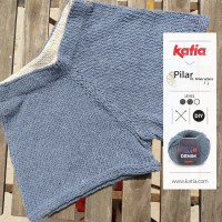 Knitted shorts by Tejiendo la isla: a refreshing pattern to knit in summer with Love Denim