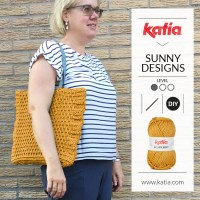 Scuby Soft Bag by Sunny Designs: Square bag made with front post double crochet