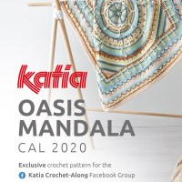 Oasis Mandala CAL 2020: The kit is now available! Make this baby blanket with new colors Katia Basic Merino