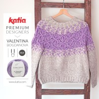Top-down seamless jumper pattern designed by Valentinasknits for Premium Designers