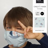 Learn how to make a child´s face mask with filter pocket and nose wire 😷