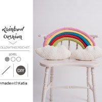 Make a crochet Rainbow Cushion with this new free pattern sharing by Follow the Crochet