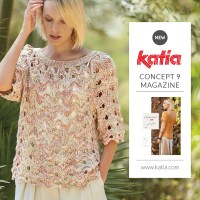 7 openwork stitch patterns that you can knit and crochet with the new Concept by Katia magazine