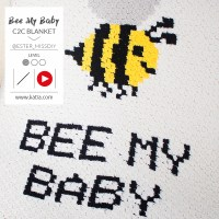 Learn C2C Crochet: Follow the video tutorial to make the Bee My Baby baby blanket with Katia Alabama