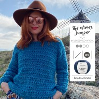 The Waves crochet jumper by Susi se enreda: Enjoy this pattern inspired by the sea and literature