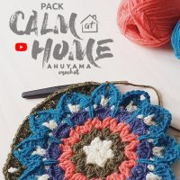 Join the Calm at Home Crochet Challenge! Learn how to make relaxing mandala squares with Ahuyama Crochet