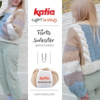 Enjoy the Tårta Sweater by @vicky.knits! Knit this bottom-up sweater in size S-M-L-XL with chunky yarn