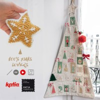 7 videos to sew an Advent Calendar and learn how to crochet Christmas ornaments with Ahuyama