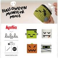 4 Cubre Tazas a crochet por Lalala Toys: Este Halloween brinda con Drácula, Calabaza, Momia y Frankenstein