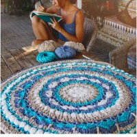 Craft Lovers ♥ Alfombra Mandala a ganchillo por Susimiu