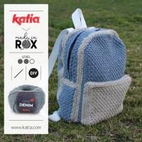 DenimBag por MadeinRox: La mochila de crochet perfecta para viajar, ir de concierto, llevar tus labores...