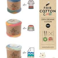 Teje con sólo un ovillo Katia Fair Cotton Craft una manta para bebé, un suéter para niño, un vestido para niña...
