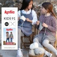4 tendencias en prendas de punto infantiles fáciles de tejer con la nueva revista Katia Niños 91