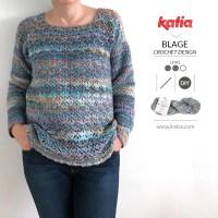 Jersey a ganchillo Eurybia por Blage Crochet Design, un patrón ideal para principiantes que quieren subir de nivel