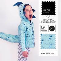 ¡Cose un disfraz de tiburón para tus peques este Carnaval! Sigue el vídeo y descarga el patrón de costura gratis