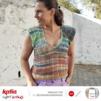 Cómo hacer un top a crochet diferente con escote en V y hombreras gracias al patrón de Dona M Handmade