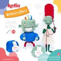 Reto Amigurumi con Lana & Ovi, los Minicrafters de Katia que tejen sin miedo todo lo que imaginan