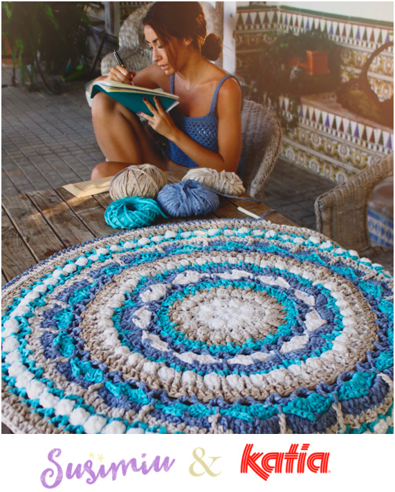 Craft Lovers ♥ Tapis Mandala crocheté par Susimiu en Washi