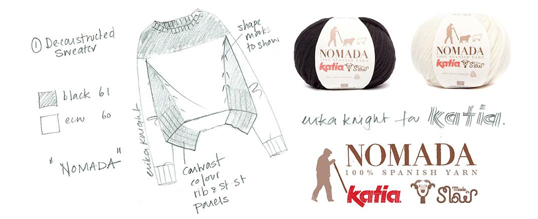 Deconstructed Sweater by Erika Knight  Katia Premium Designers: des tricots d'auteur