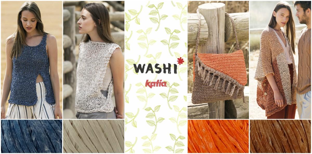 5 patrons très faciles à tricoter ou crocheter avec Washi