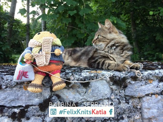 Tricoter en public avec Félix