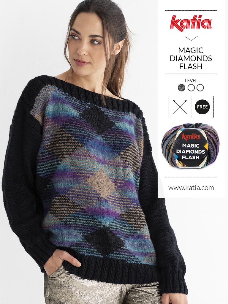 pulls faciles au tricot et crochet tartan