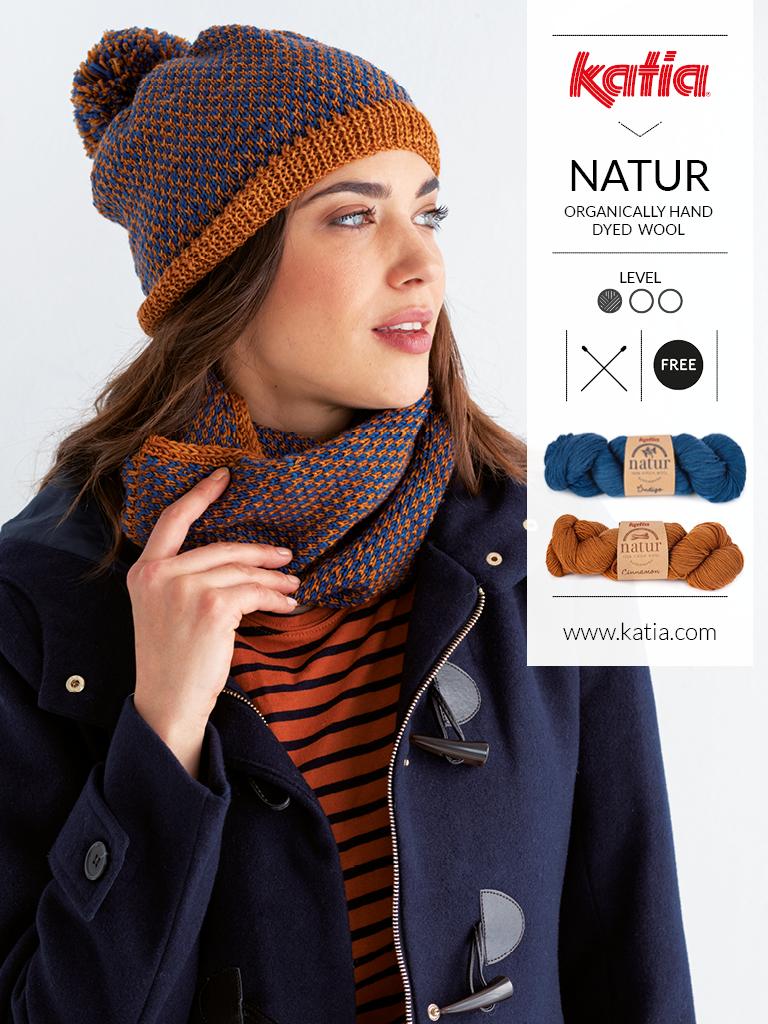ensemble natur bonnet snood