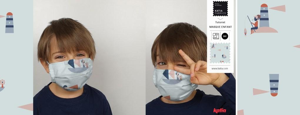 couture masque à filtre slide