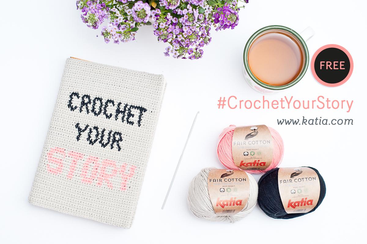 Apprenez la technique du Jacquard Crochet grâce à notre couvre-livre Crochet your Story