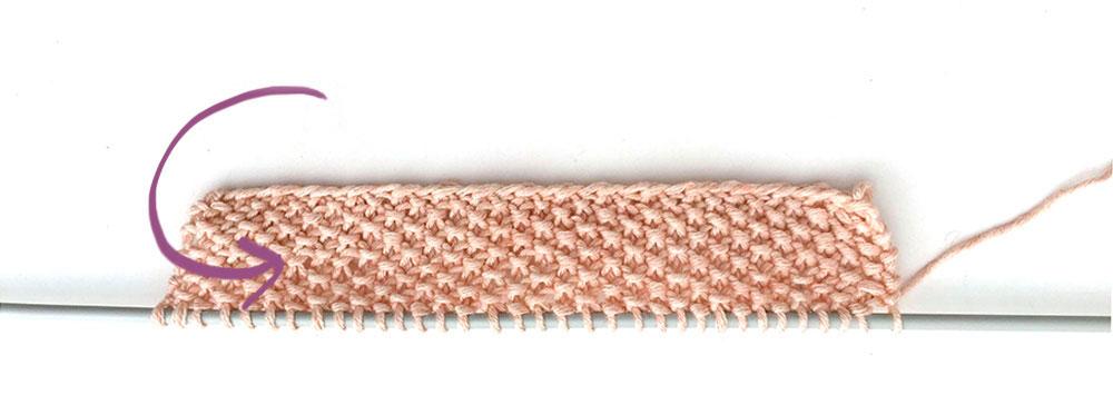 tricoter un top à volant pour bébé - 3