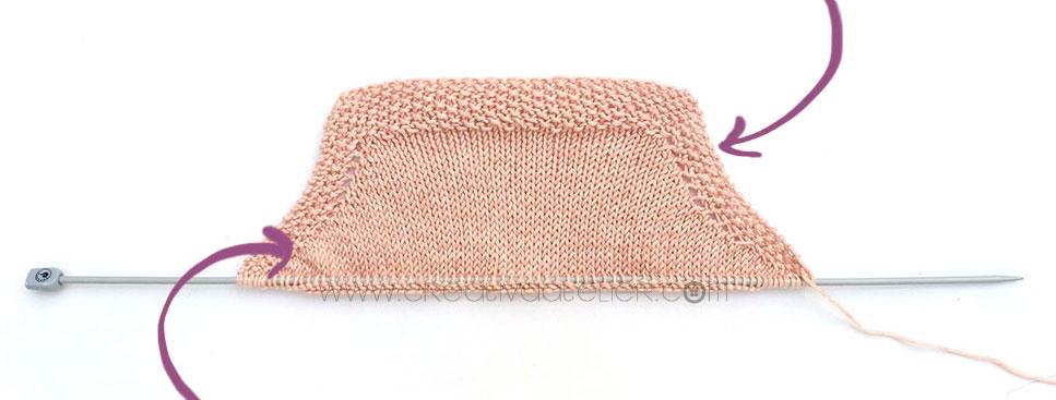 tricoter un top à volant pour bébé - 4