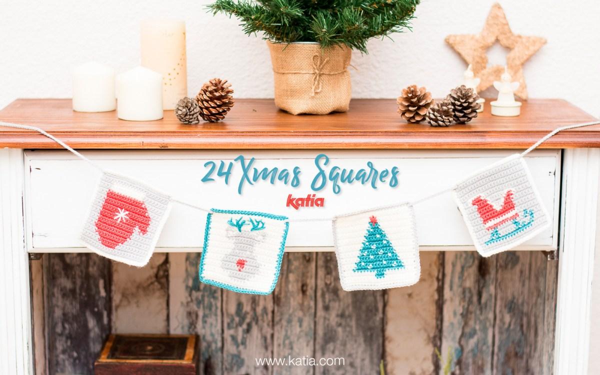 24 Xmas Squares exclusifs à crocheter chaque jour du Calendrier de l'Avent et un concours pour Noël!
