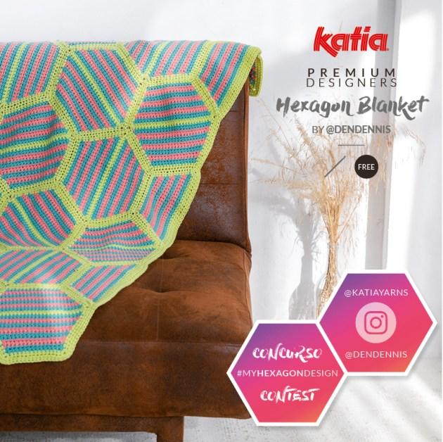 hexagon blanket crochet feat