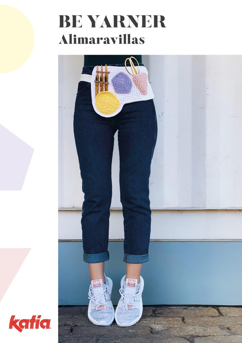Sac à dos porte-pelotes, Mini pochettes pour accessoires et Ceinture de Crocheteuse