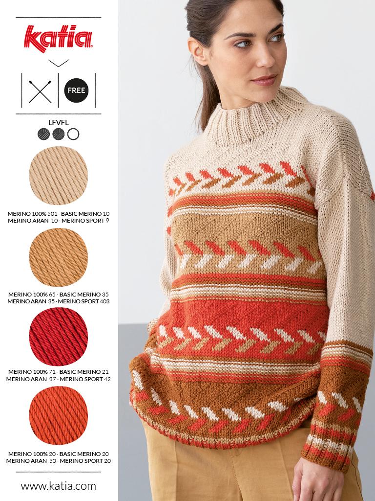 couleurs tendance et laine mérinos orange